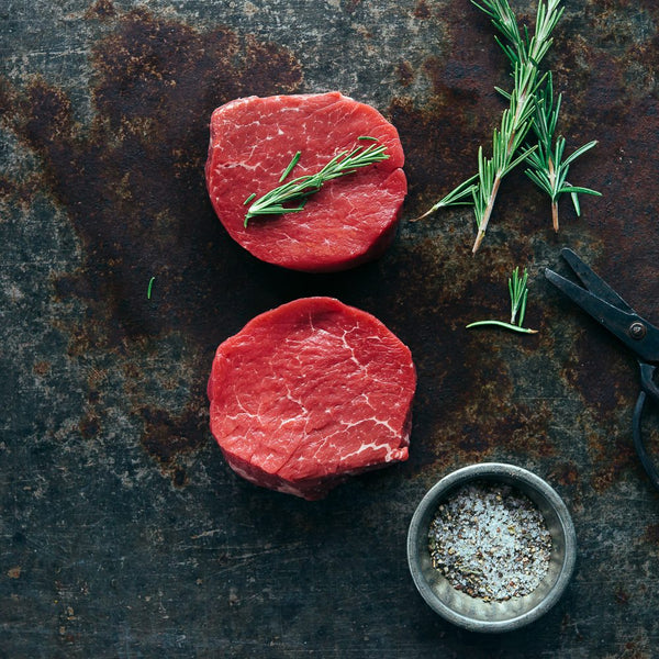 2x Eye Fillet Steaks