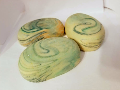 Lemon Coconut and Lemongrass Herbal Artisan Stone Soaps