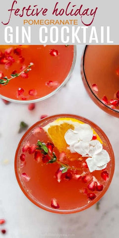 festive holiday gin cocktail