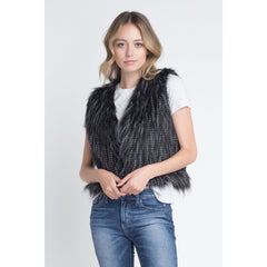 Matter of Time Sleeveless Vest - Feather Vest
