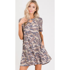 melody camo keyhole dress