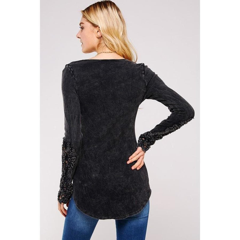 Queen Victoria Lace-Sleeve Thermal Top | Fidgey Ray Boutique