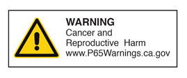 Prop 65 Warning