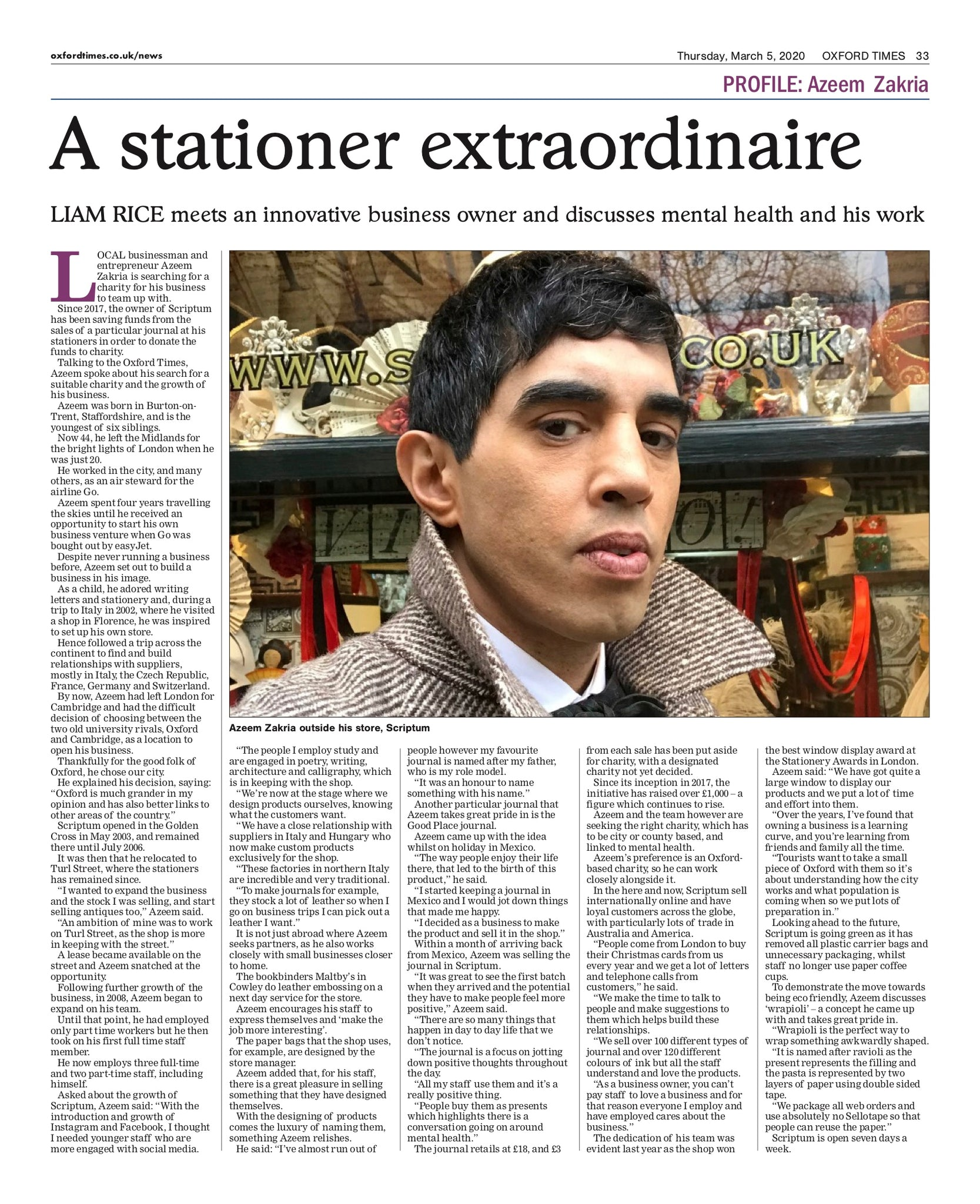 Oxford Times Interview