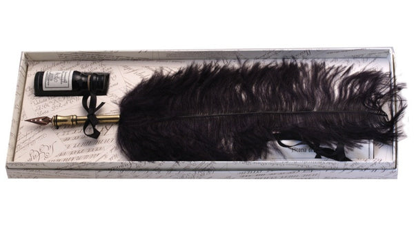 Ostrich Feather Quill - Black