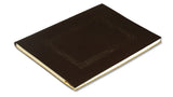 Embossed Window Recipe Book - brown