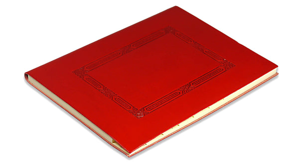 Embossed Window Recipe Book - red