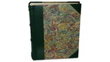 Italian Marbled Photo Album - Green, Large, Portrait