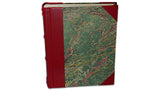 Italian Marbled Photo Album - Red, Large, Portrait