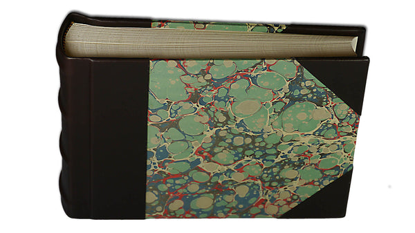 Italian Marbled Photo Album - Brown, Small, Landscape