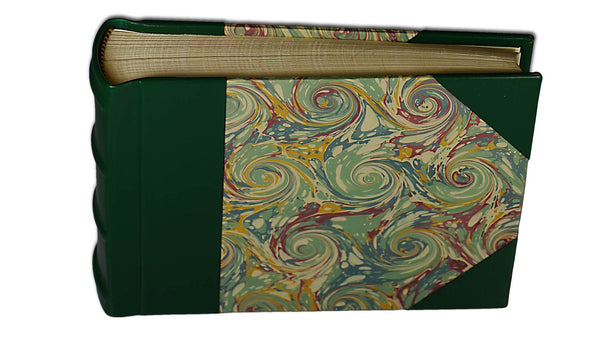 Italian Marbled Photo Album - Green, Small, Landscape