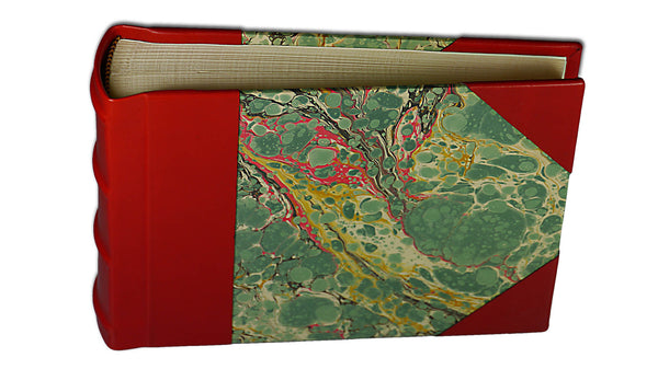 Italian Marbled Photo Album - Red, Small, Landscape