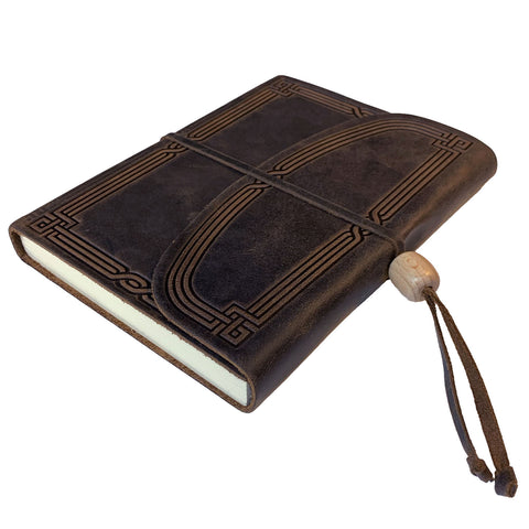 Art Deco Leather Journal