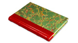 Italian Marbled Journal - red