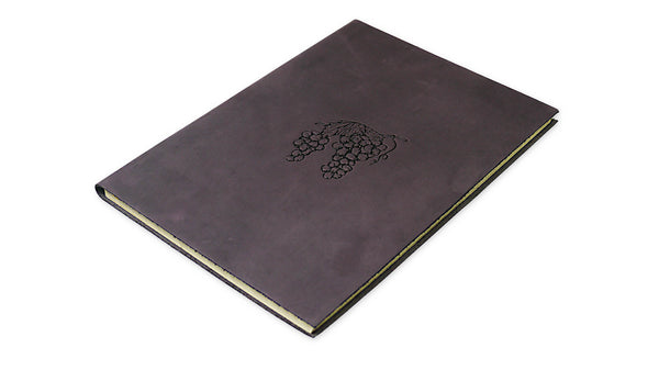 Grape Motif Leather Wine Journal
