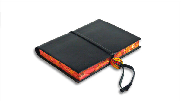 Trieste Italian Leather Journal - Black