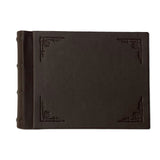 Amarcord Classic Leather Photo Album - small brown landscape