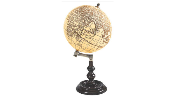 Angled Globe with Antiqued Map