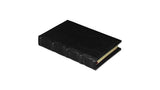 Bomo Art Leather-bound Journal - Small chunky, black