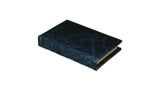 Bomo Art Leather-bound Journal - Small chunky, blue