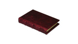 Bomo Art Leather-bound Journal - Small chunky, burgundy