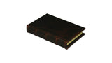 Bomo Art Leather-bound Journal - Small chunky, dark brown