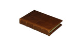 Bomo Art Leather-bound Journal - Small chunky, light brown