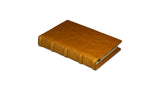 Bomo Art Leather-bound Journal - Small chunky, mustard