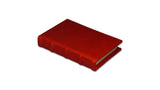 Bomo Art Leather-bound Journal - Small chunky, red
