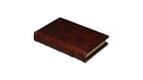 Bomo Art Leather-bound Journal - Small chunky, reddish brown