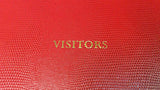 Visitors' Book - Embossing on front cover