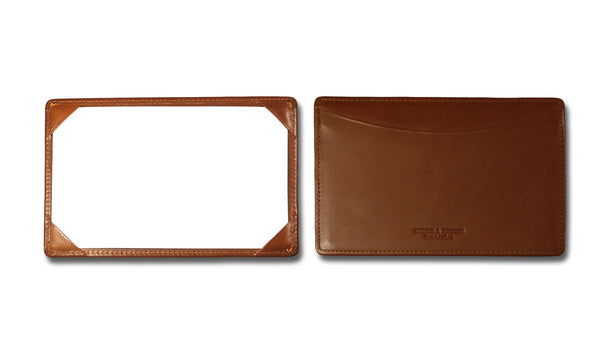 Leather Open Face Jotter - Tan