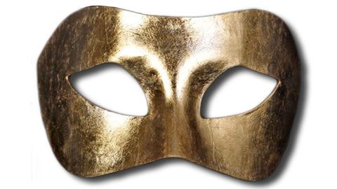 Colombina Piana Venetian Mask - Gold