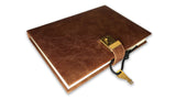 Hide Leather Lockable Journal