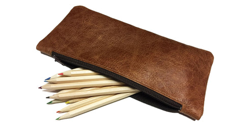 Hide Leather Pencil Case