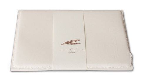 Handmade Amatruda Amalfi Paper with Deckled Edges & Watermark