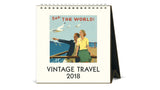 Desk Calendar 2018 - Vintage Travel