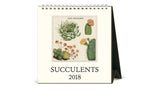 Desk Calendar 2018 - Succulents