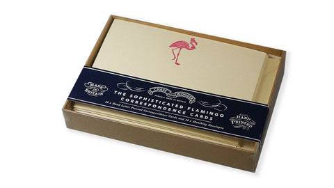 Letterpressed Correspondence Card Set - The Sophisticated Flamingo