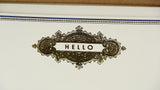 Gold Foiled Correspondence Cards - Hello close up