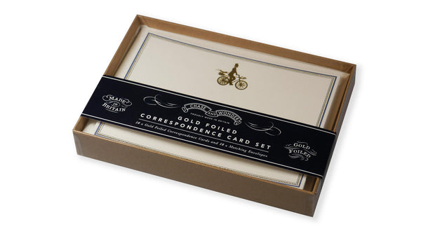 Gold Foiled Correspondence Cards - The Gentleman Rides