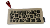 Typography Pencil Case - front