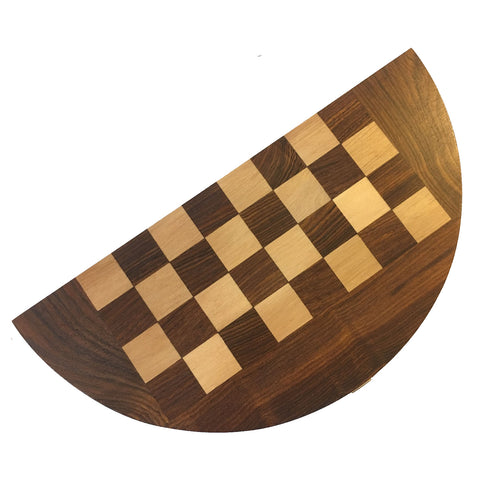 Half-Moon Wooden Travel Chess Board