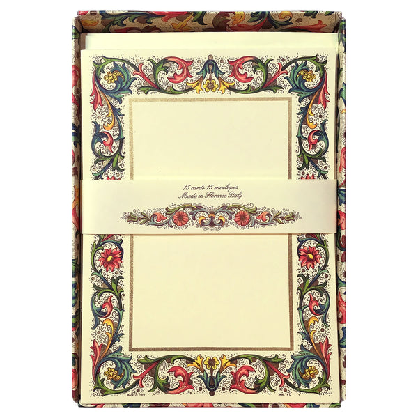 Classic Florentine Il Papiro Flat Cards and Envelopes