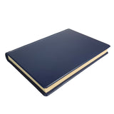 Classic Hardback Leather Journal - navy blue