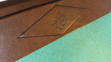 Florentine Leather Desk Blotter - close up