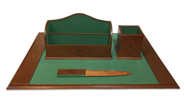 Florentine Leather Desk Set