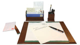 Florentine Leather Desk Set in use