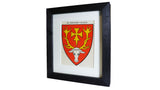1920s Framed Oxford College Crests - Hertford