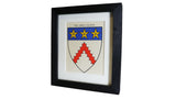 1920s Framed Oxford College Crests - Keble